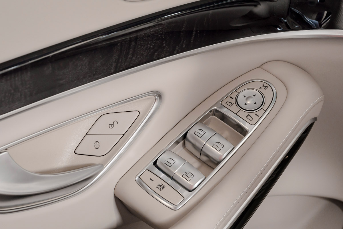 Interior shot of power window controls