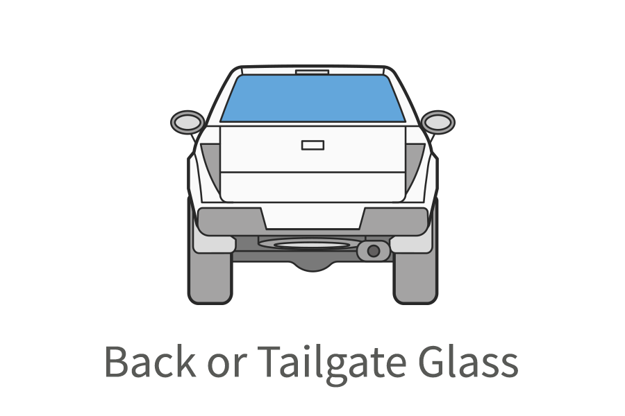 Back or tailgate glass