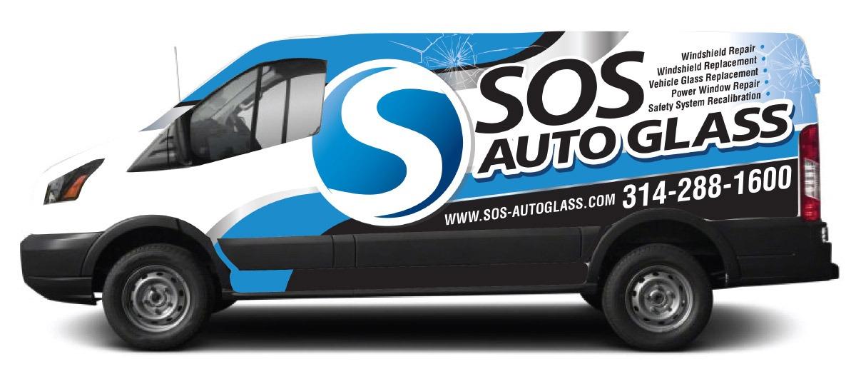 SOS Auto Glass van