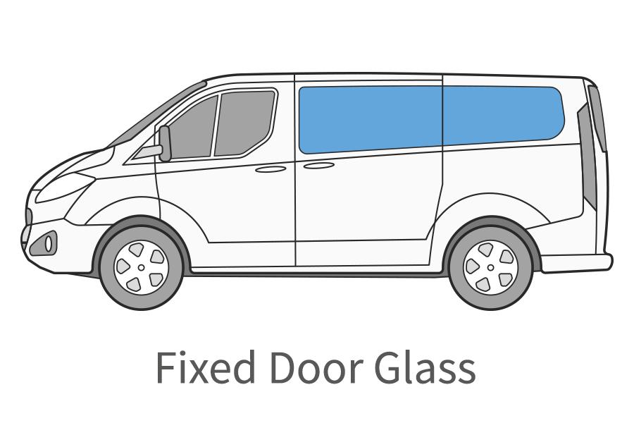 Fixed door glass