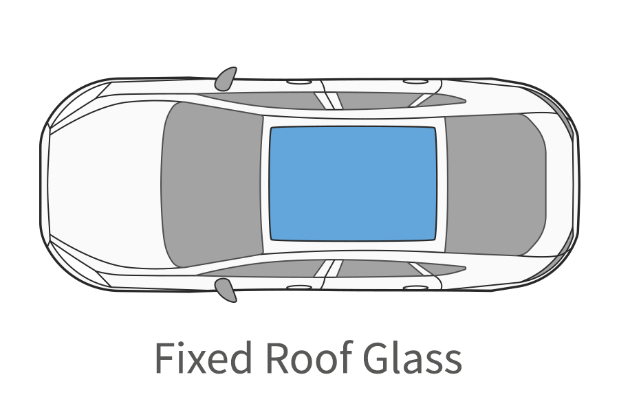 Fixed roof glass