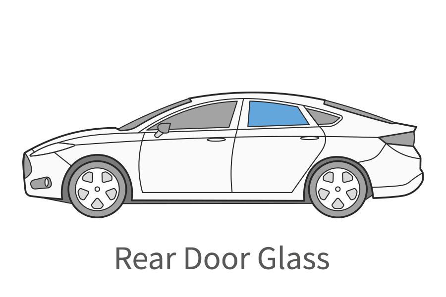Rear door glass