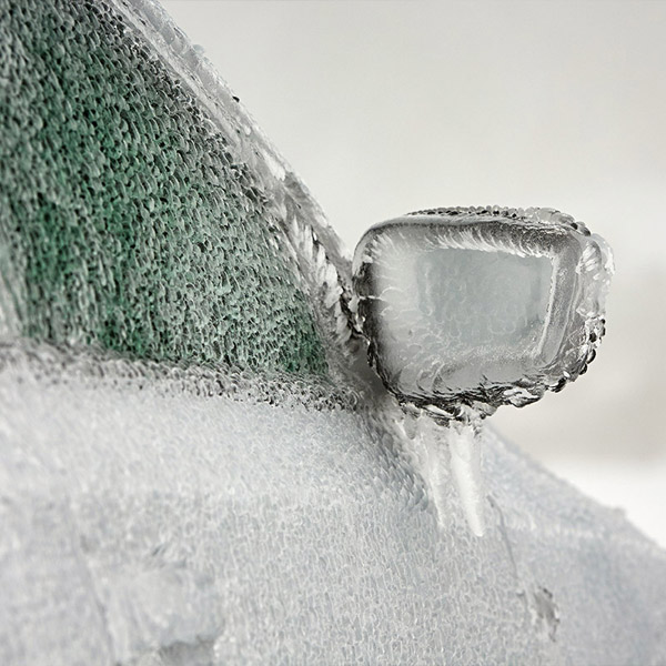 iced over vehicle